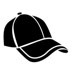 cap icon simple black style vector image