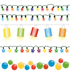 Christmas and party lights vector image vector image