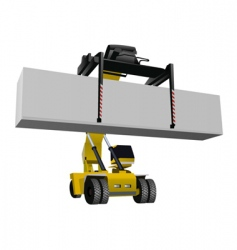 container lift vector image