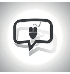 Curved computer mouse message icon vector