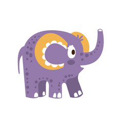 cute cartoon baby elephant character posing vector image