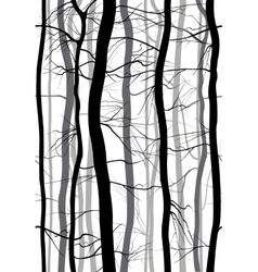Forest Branches seamless pattern Monochrome vector image vector image