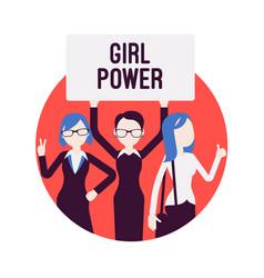 Girl power poster vector