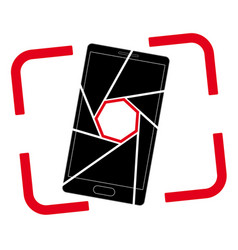 Icon or logo with a picture of a smartphone vector