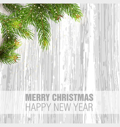 merry christmas happy new year greeting vector image