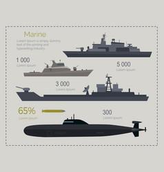 military navy flat infigraphics vector image