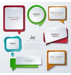 modern bubble speech icons set vector image vector image