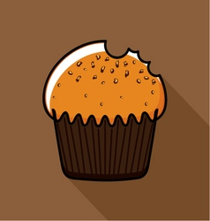 Muffin with seeds vector