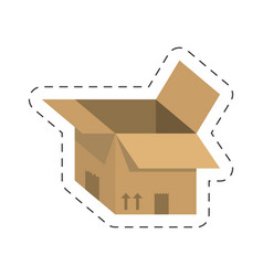 Open delivery box carton vector