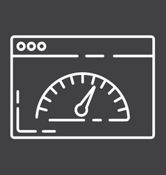 page speed line icon seo and development vector image