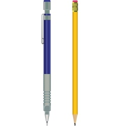 pencil and automatic pencil vector image