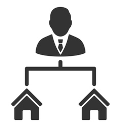 Realty manager flat icon vector
