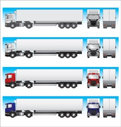 Semi-trailer truck vector