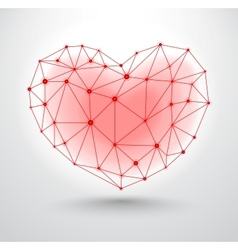 Shiny heart symbol with connections for valentines vector