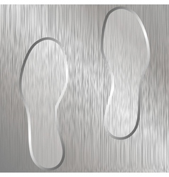 shoeprint traces vector image