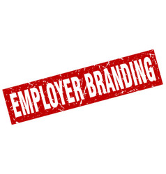 square grunge red employer branding stamp vector image vector image