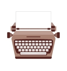 Typewriter isolated icon design vector