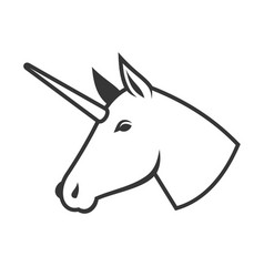 unicorn head icon logo sign vector image vector image