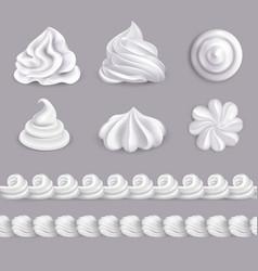 Whipped cream set vector