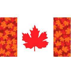 With maple leaf canada flag vector