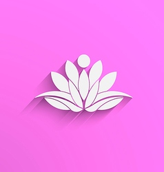 Yoga Lotus abstract vector image