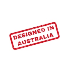 Designed in australia text rubber stamp vector