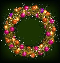Christmas wreath vector image