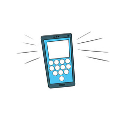 smartphone calls touch screen vector image