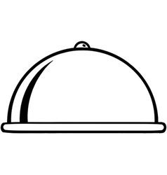 Serving tray icon vector
