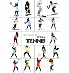tennis players vector image