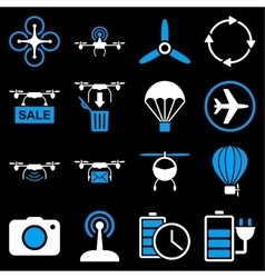 Copter tools icon set vector