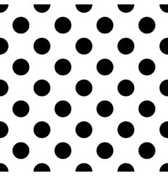 Polka dot black vector