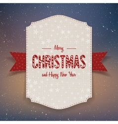 Christmas realistic big paper banner with ribbon vector