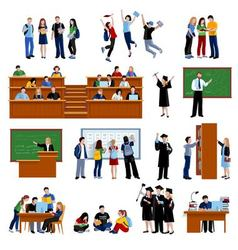 Students At The University vector image