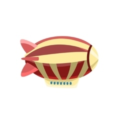Zeppelin toy aircraft icon vector