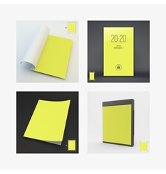 Blank Page Template for Design Layout Lock Screen vector image