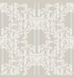Damask old pattern ornament decor baroque vector