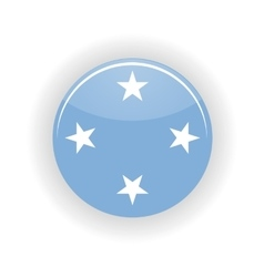 Federated States of Micronesia icon circle vector image vector image