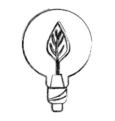 Figure bulb with leaf inside to reduce energy vector