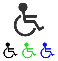 Handicapped flat icon vector