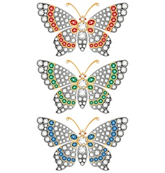 Jewerly butterflies vector