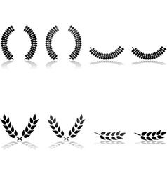 Laurels vector image vector image