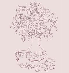Lilies and desert vector