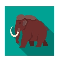 Mammoth icon in flat style isolated on white vector image