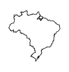 Map of brazil landmark geography image vector