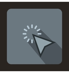 Mouse cursor is over object icon flat style vector image vector image