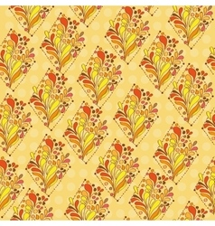 Orange ornament - seamless pattern dudling vector image vector image