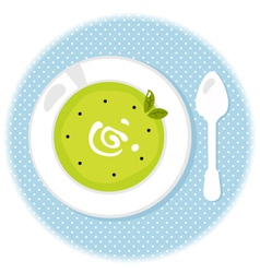 Pea soup vector image