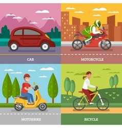 Personal Transport Concept vector image