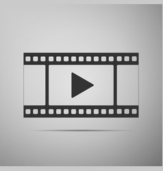 play video icon isolated on grey background vector image